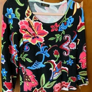 Colorful, Floral, sparkly sweater